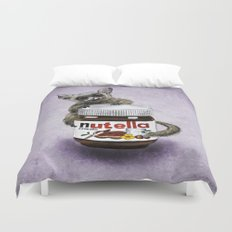 Sweet aim // galago and nutella Duvet Cover