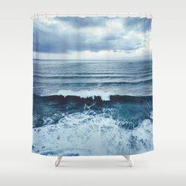 Ocean.Wave.Oregon.Cape Meares.Coast.Sea.Water.Texture. Shower Curtain