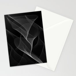 Black and White Flux #minimalist #homedecor #generativeart Stationery Cards