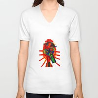 rare V-neck T-shirts featuring rare-ju by FUNCIT