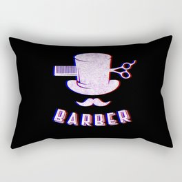Barber Vintage Classic Barber Retro Distressed Gift Rectangular Pillow