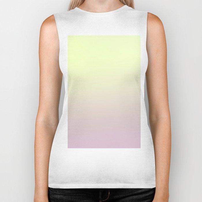 FRESH START - Minimal Plain Soft Mood Color Blend Prints Biker Tank