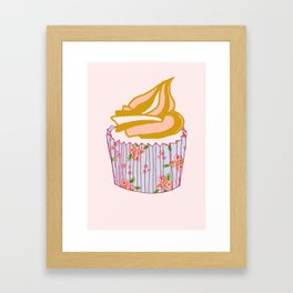 Cute as a cupcake! Framed Art Print