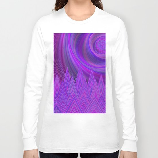 Purple mountains Long Sleeve T-shirt
