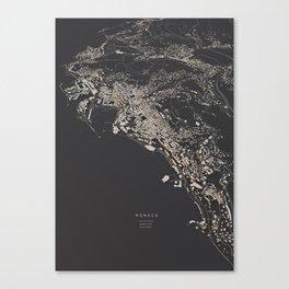 Monaco city map Canvas Print