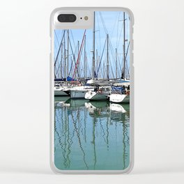 Summer Symmetry Clear iPhone Case