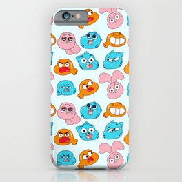 Gumball Faces Pattern iPhone Case