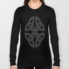 Celtic Shamrock Tribal Knot Long Sleeve T-shirt