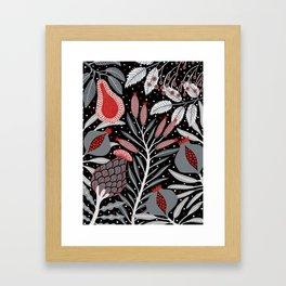 Winter scene with summer fruits Framed Art Print