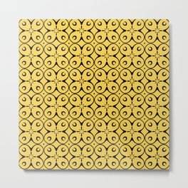 My Lucky Day Primrose Yellow Metal Print