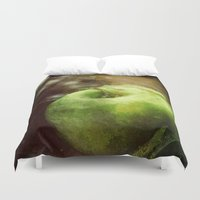 apple Duvet Covers featuring Apple  by Bella Blue Photography