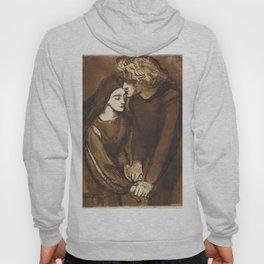 Two Lovers by Dante Gabriel Rossetti, 1850 Hoody