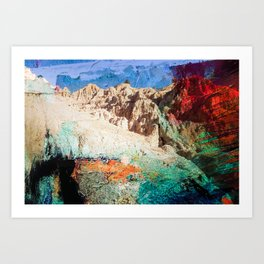 Painting the Gorge Art Print