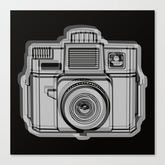 I Still Shoot Film Holga Logo - Black Canvas Print