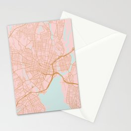 New Haven map, Connecticut Stationery Cards