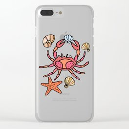 Summer crab Clear iPhone Case