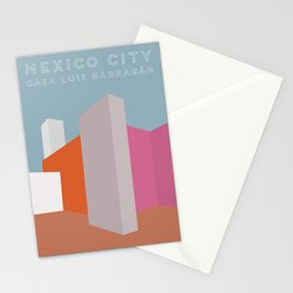 Mexico City, Casa Luis Barragán Travel Poster Stationery Cards