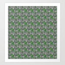 Tropical Monochrome Art Print
