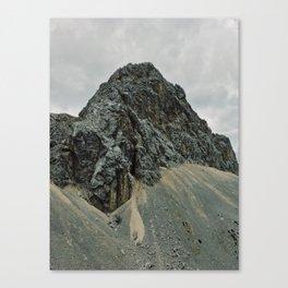 Dark rocky mountain Canvas Print