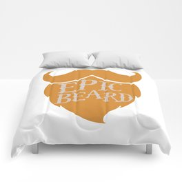 Epic Beard orange Comforters