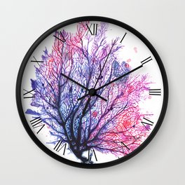 Fan Coral - Purple Wall Clock