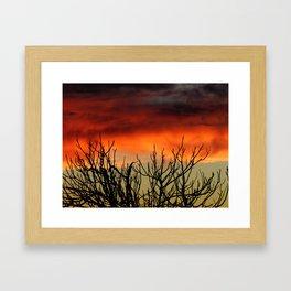 Burning branches Framed Art Print