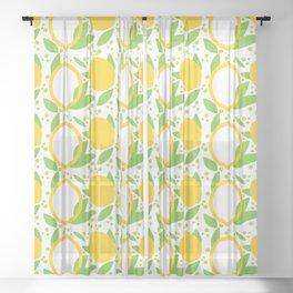 When Life Gives You Lemons Sheer Curtain