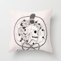 pirate Throw Pillows featuring Pirate by Thrashin