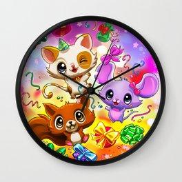 Kawaii Party Wall Clock