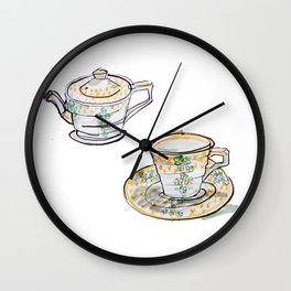 English Tea Set Wall Clock