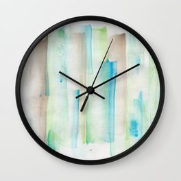 180713 Watercolor Play 1| Watercolor Brush Strokes Wall Clock
