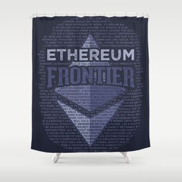 Ethereum Frontier Grunge original on dark blue Shower Curtain