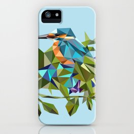 Common Kingfisher (halcyon) in Triangles iPhone Case