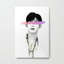 Monsta X Wonho Metal Print