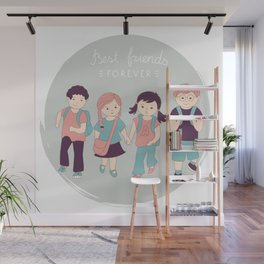 Best friends Wall Mural