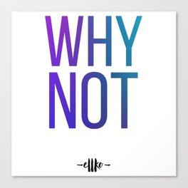 Why Not? Canvas Print
