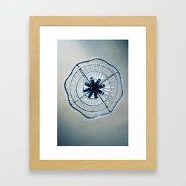 Blue chandelier Framed Art Print