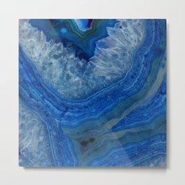blue agate crystals Metal Print
