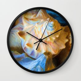 Impressionistic Shell Game Wall Clock
