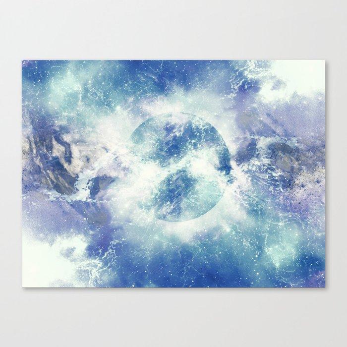 Universe Atoms Stories Canvas Print
