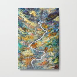 Remote Valley in Alaska Metal Print