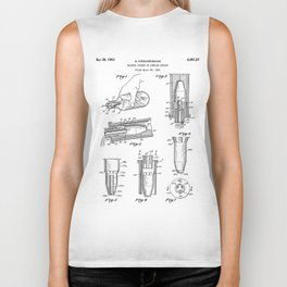 Whisky Pourer Patent - Whisky Art - Black And White Biker Tank