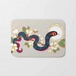 Snake and flowers 2 Bath Mat