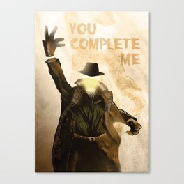 Monster Love Valentine's - You Complete Me Canvas Print