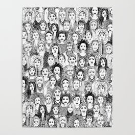 WOMEN OF THE WORLD BW Poster