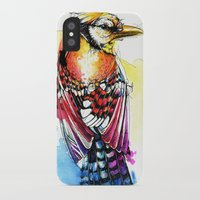 jay fleck iPhone & iPod Cases featuring Crazy Jay by Abby Diamond