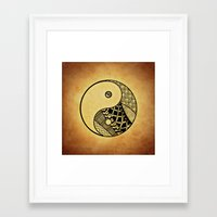 ying yang Framed Art Prints featuring Ying Yang by WonderfulDreamPicture
