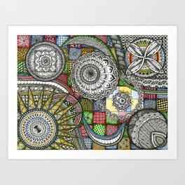 The Patterns Art Print
