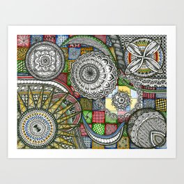 The Patterns Art Print