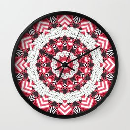 Rustic patchwork Wall Clock
